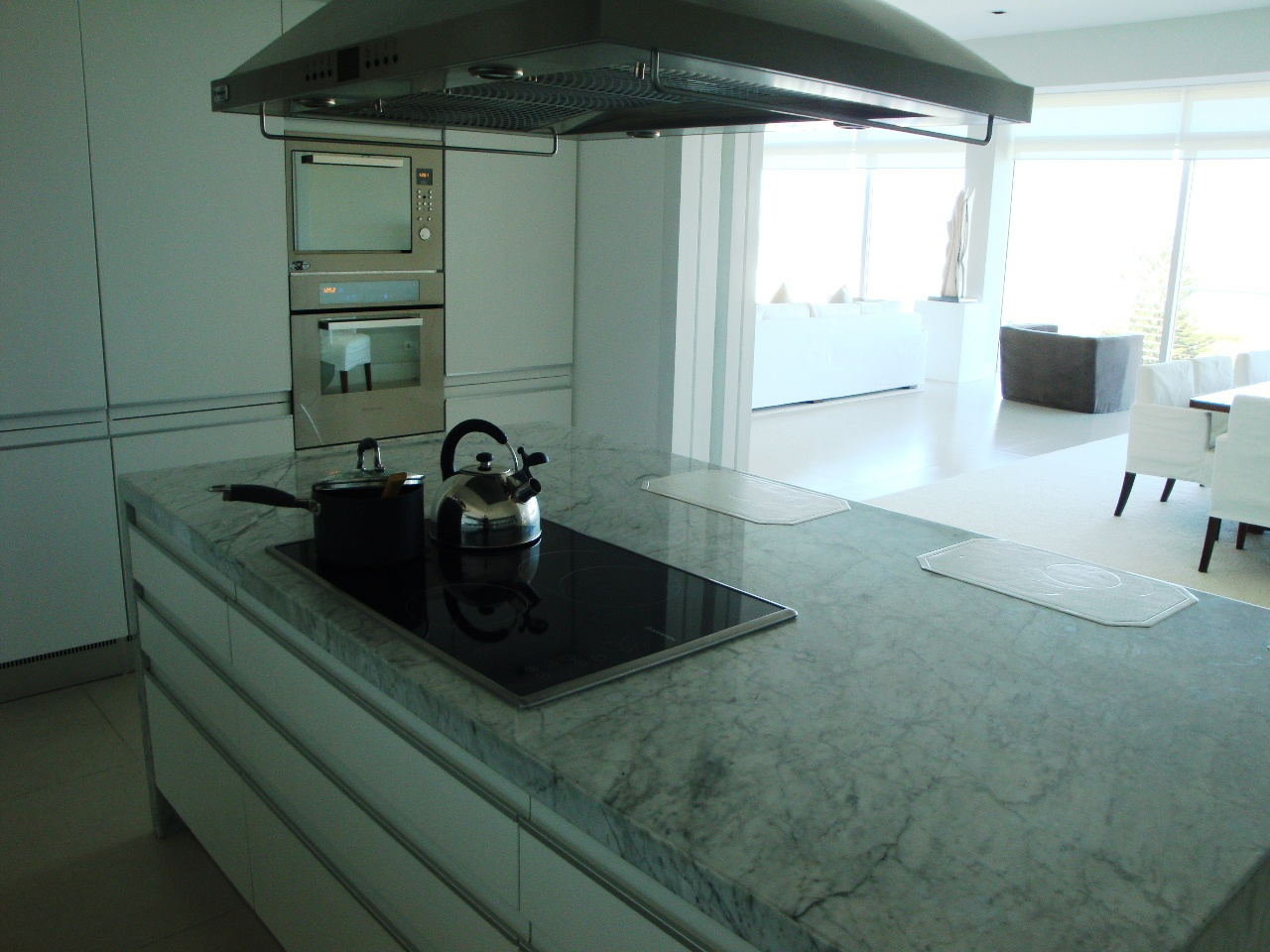 Modern kitchen with central counter