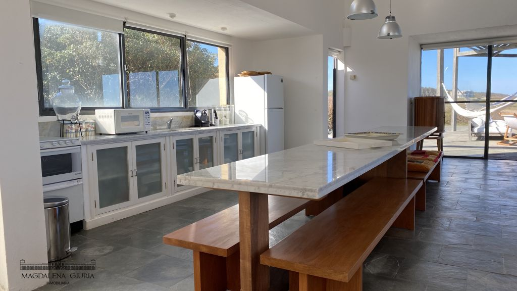 Beach House kitchen and dining room
